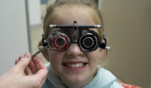 How are my child's eyes assessed?